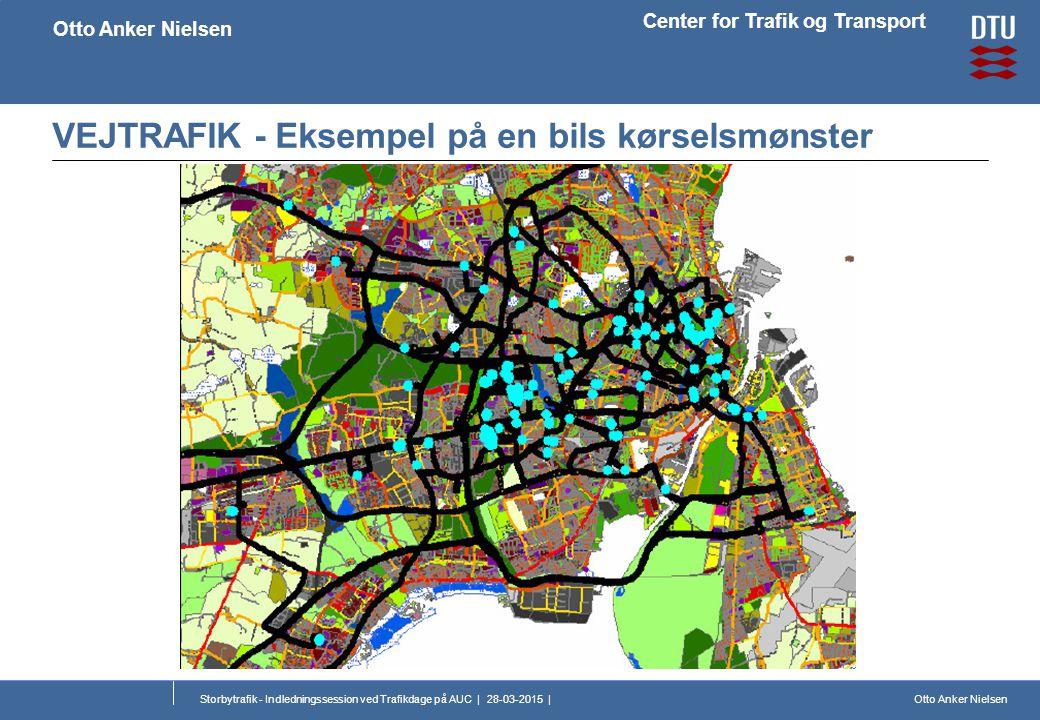Otto Anker Nielsen Center for Trafik og Transport Otto Anker Nielsen Storbytrafik - Indledningssession ved Trafikdage på AUC | 28-03-2015 | VEJTRAFIK - Eksempel på en bils kørselsmønster