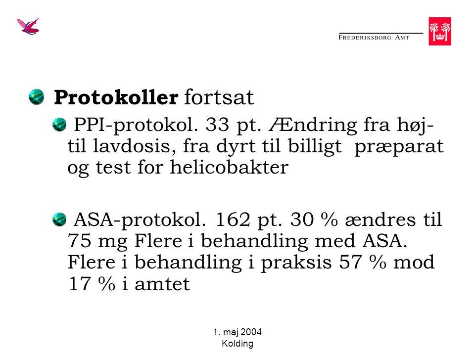 1. maj 2004 Kolding Protokoller fortsat PPI-protokol.