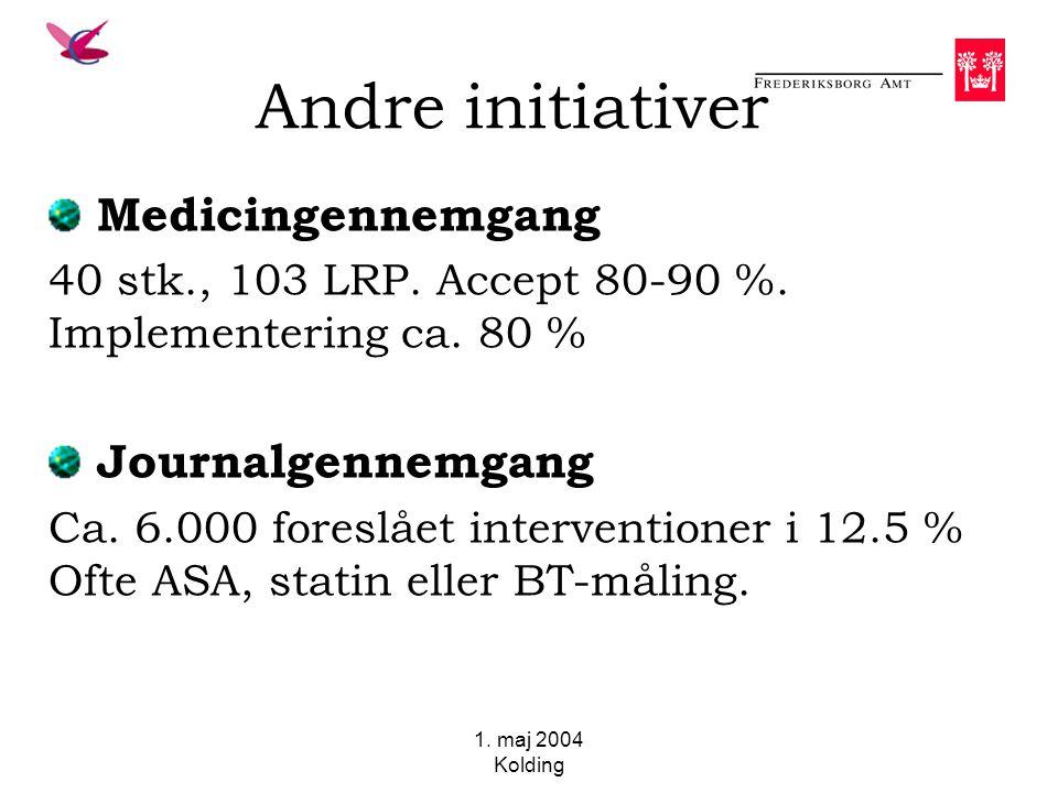1. maj 2004 Kolding Andre initiativer Medicingennemgang 40 stk., 103 LRP.