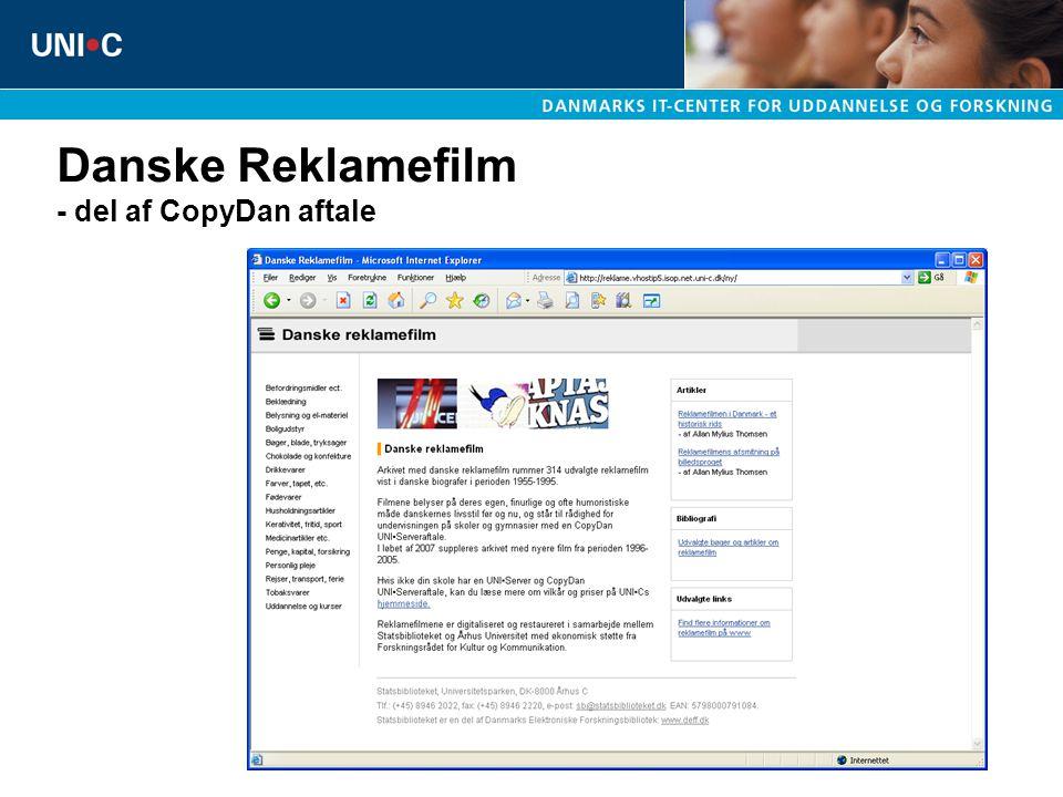 Danske Reklamefilm - del af CopyDan aftale
