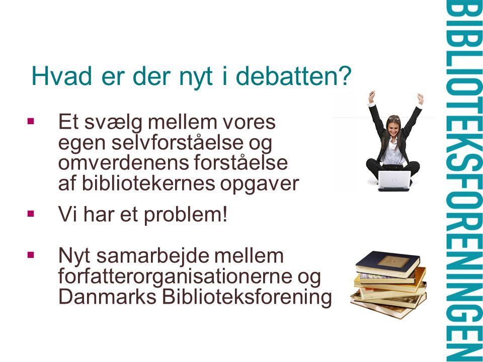 Hvad er der nyt i debatten.