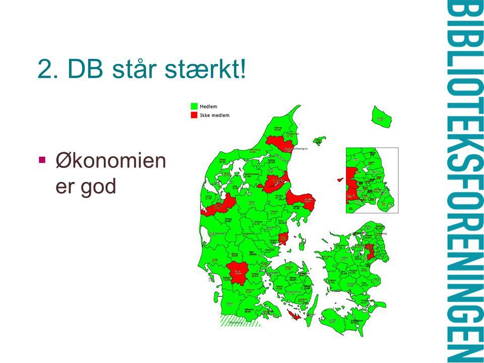 2. DB står stærkt!  Økonomien er god