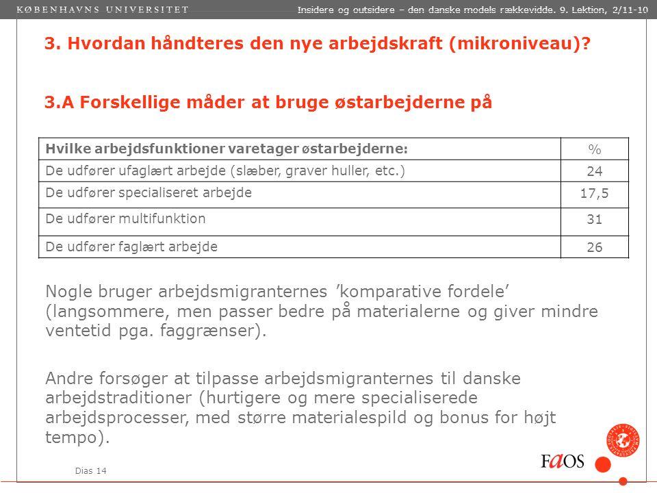 Dias 14 Insidere og outsidere – den danske models rækkevidde.
