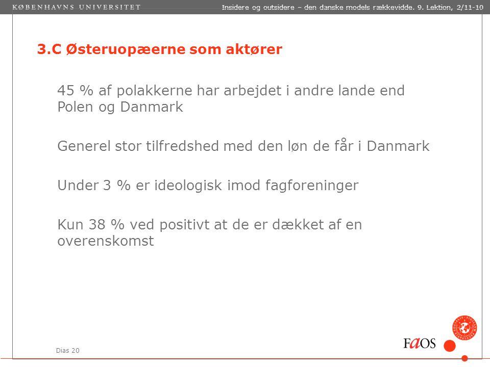 Dias 20 Insidere og outsidere – den danske models rækkevidde.