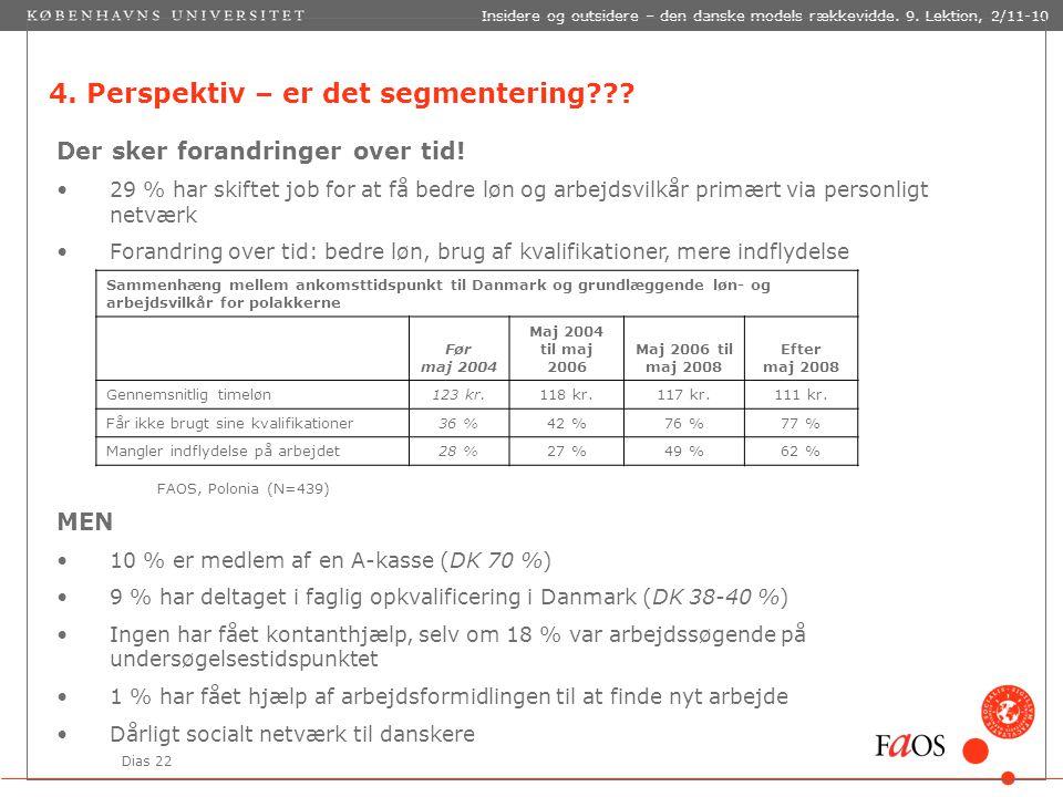 Dias 22 Insidere og outsidere – den danske models rækkevidde.