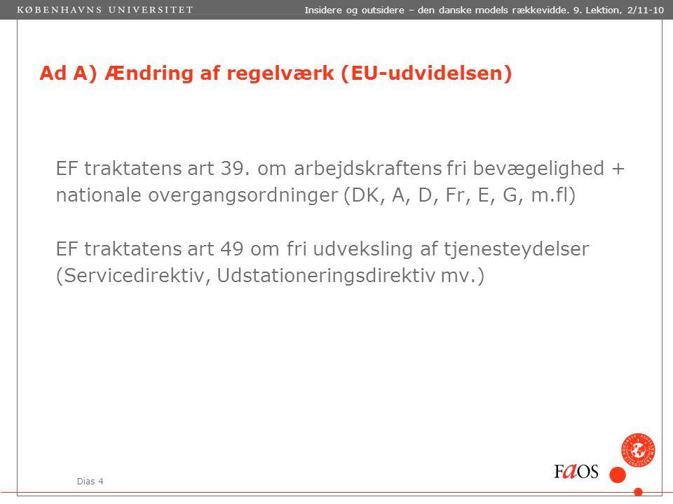 Dias 4 Insidere og outsidere – den danske models rækkevidde.