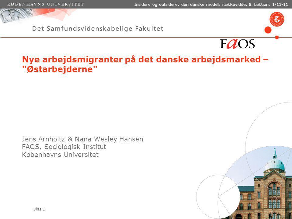 Dias 1 Insidere og outsidere; den danske models rækkevidde.