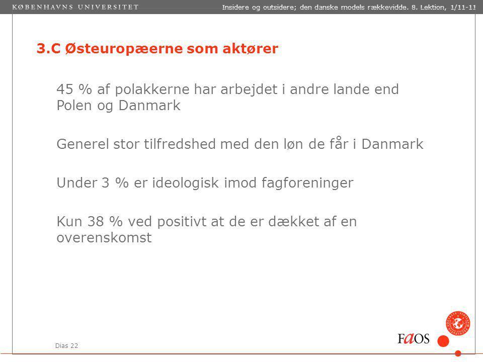 Dias 22 Insidere og outsidere; den danske models rækkevidde.