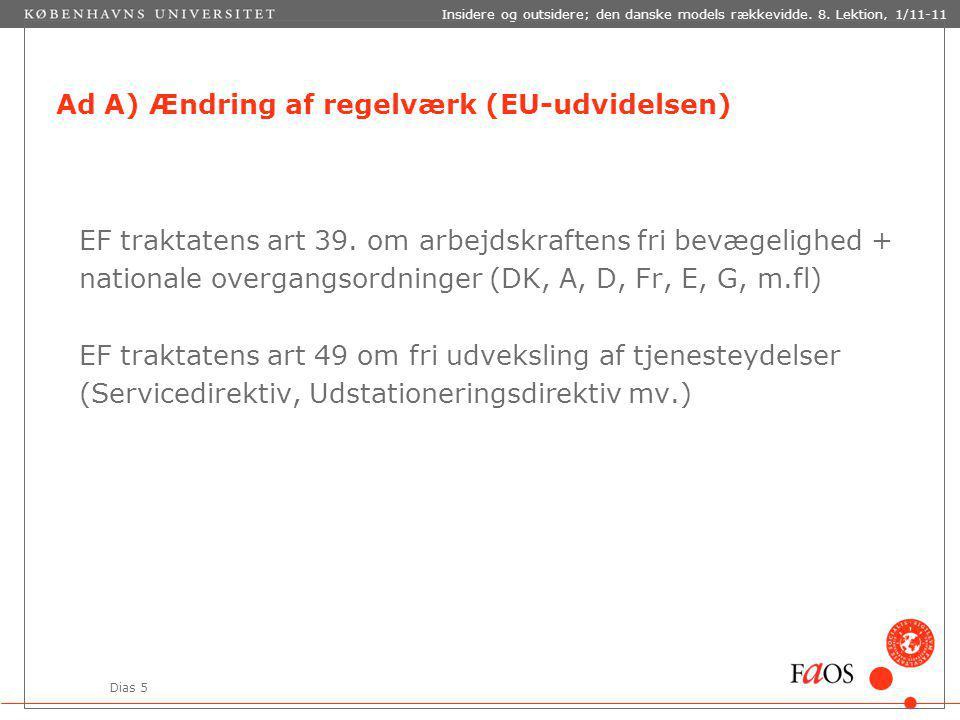Dias 5 Insidere og outsidere; den danske models rækkevidde.