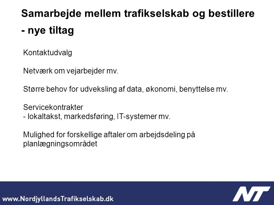 Kontaktudvalg Netværk om vejarbejder mv.