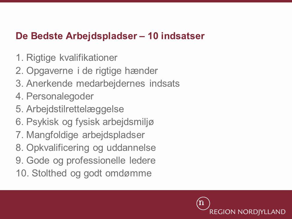 De Bedste Arbejdspladser – 10 indsatser 1. Rigtige kvalifikationer 2.