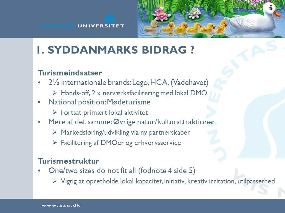 1. SYDDANMARKS BIDRAG .