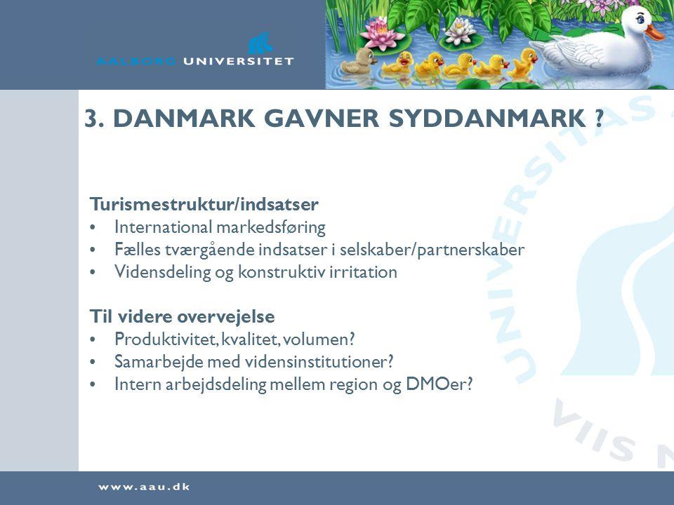 3. DANMARK GAVNER SYDDANMARK .