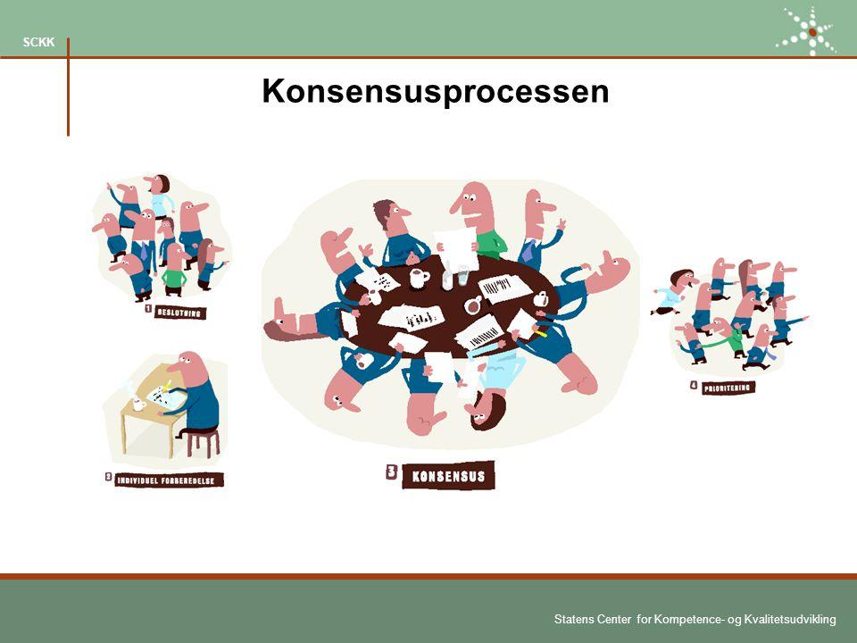 Statens Center for Kompetence- og Kvalitetsudvikling SCKK Konsensusprocessen