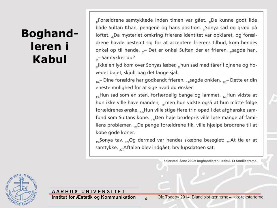 55 Ole Togeby 2014: Bland blot genrerne – ikke tekstarterne.