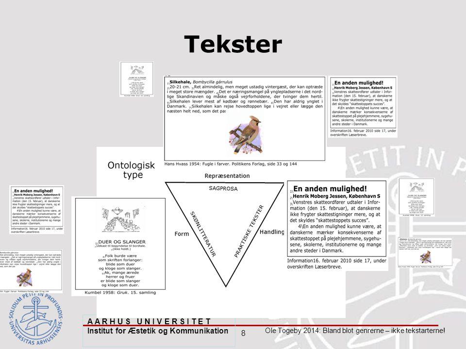 8 Ole Togeby 2014: Bland blot genrerne – ikke tekstarterne.