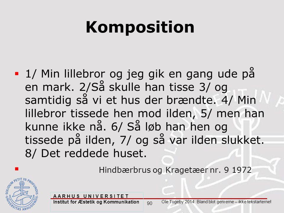 90 Ole Togeby 2014: Bland blot genrerne – ikke tekstarterne.