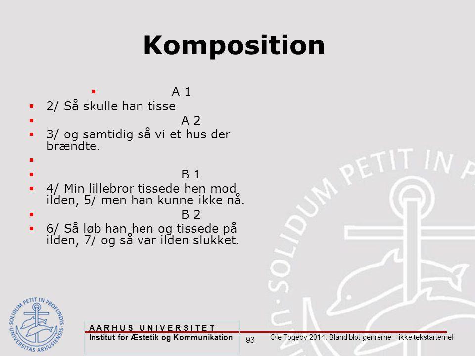 93 Ole Togeby 2014: Bland blot genrerne – ikke tekstarterne.