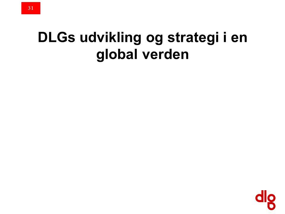 31 DLGs udvikling og strategi i en global verden