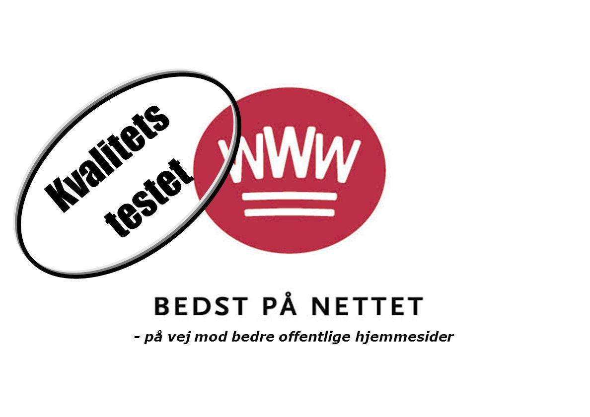 Kvalitets testet - på vej mod bedre offentlige hjemmesider
