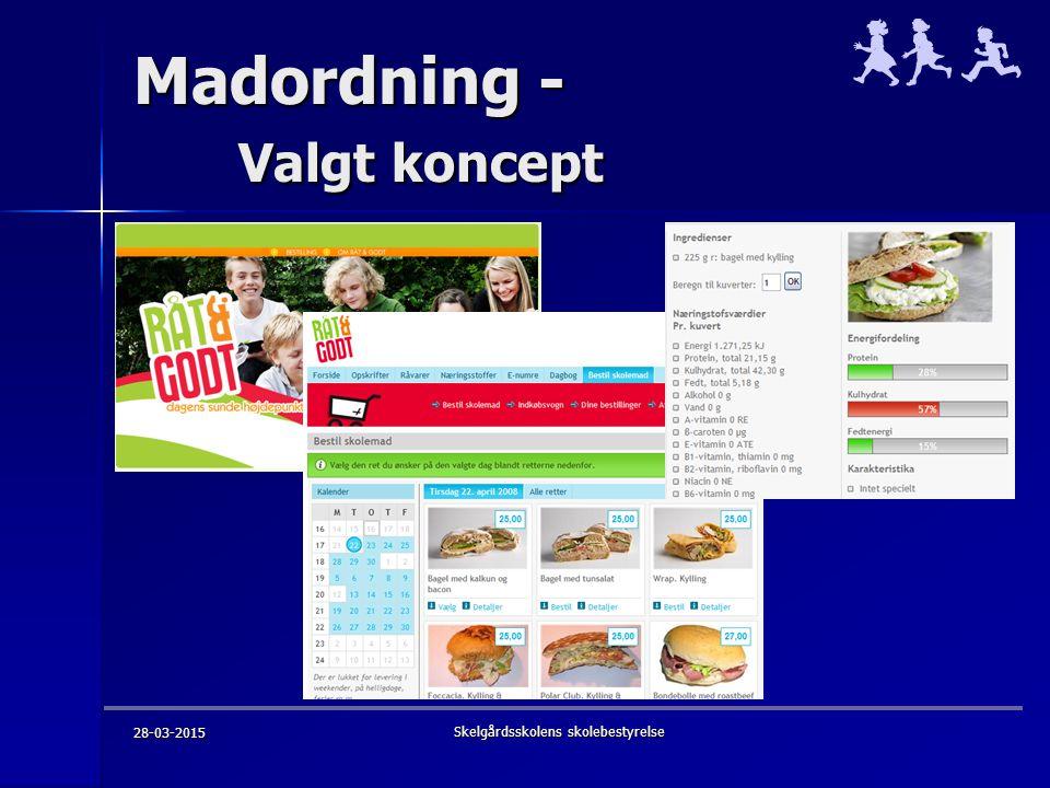 Madordning - Valgt koncept 28-03-2015 Skelgårdsskolens skolebestyrelse