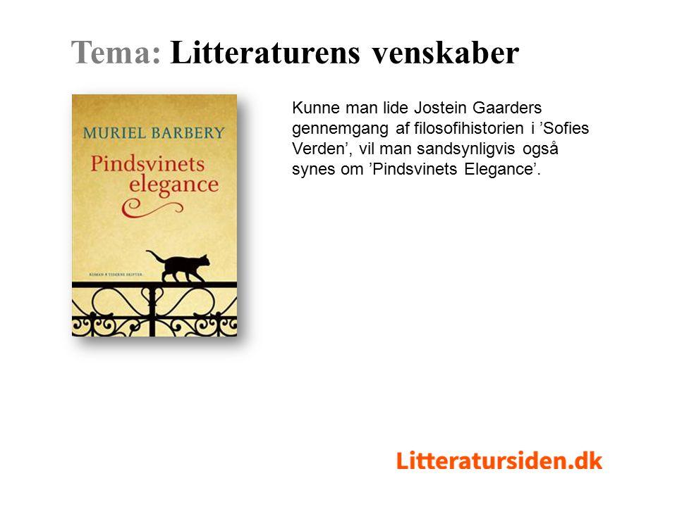 Kunne man lide Jostein Gaarders gennemgang af filosofihistorien i 'Sofies Verden', vil man sandsynligvis også synes om 'Pindsvinets Elegance'.