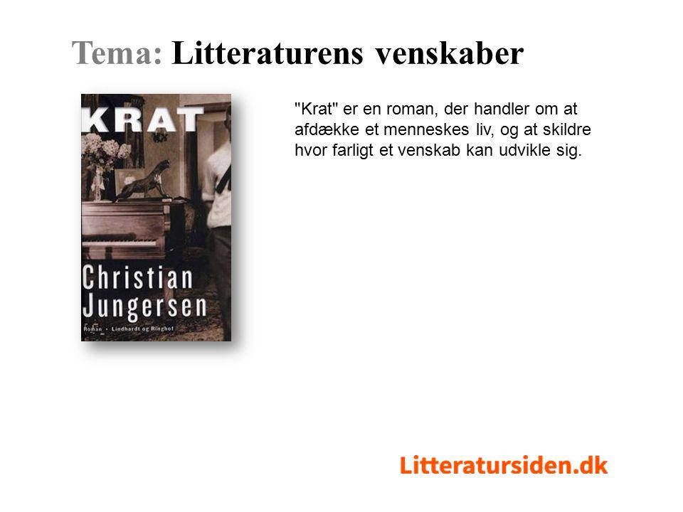 Krat er en roman, der handler om at afdække et menneskes liv, og at skildre hvor farligt et venskab kan udvikle sig.