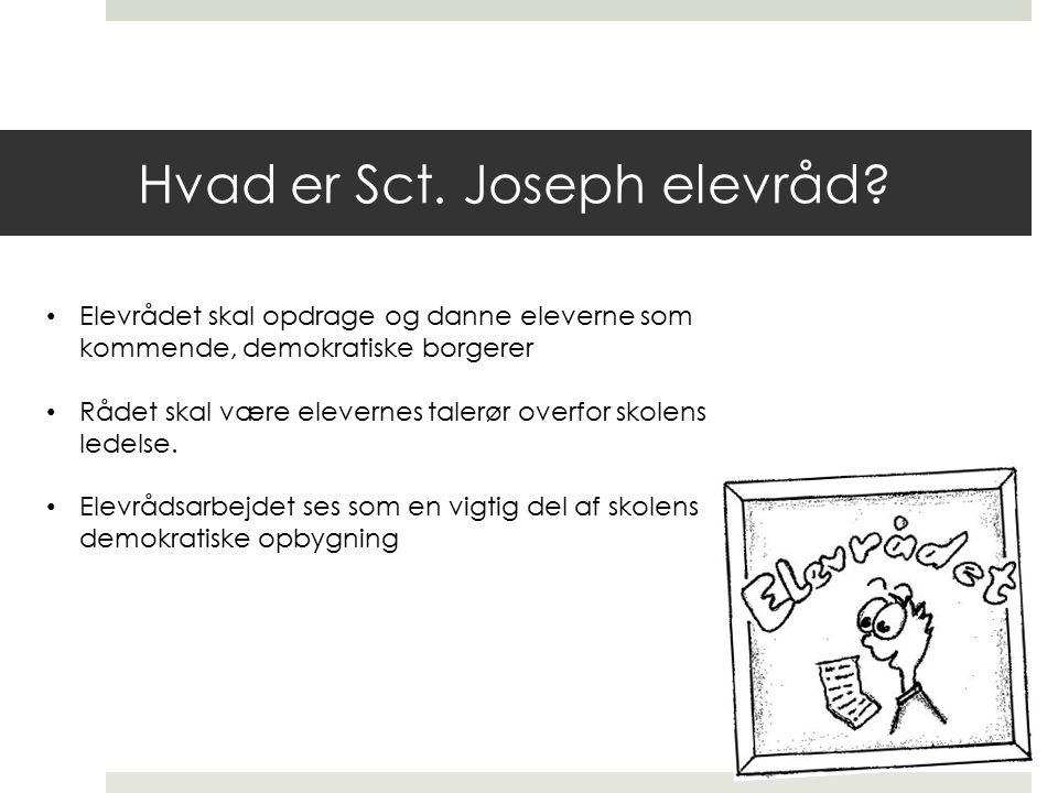 Hvad er Sct. Joseph elevråd.
