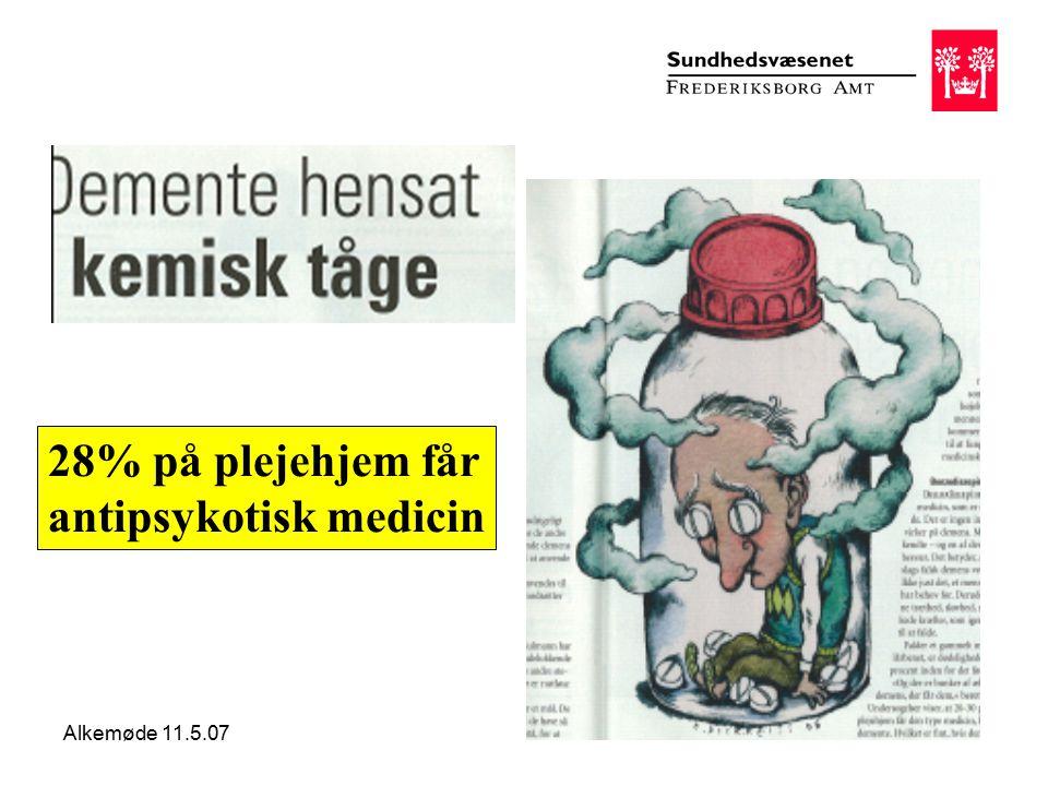 Alkemøde 11.5.07 28% på plejehjem får antipsykotisk medicin