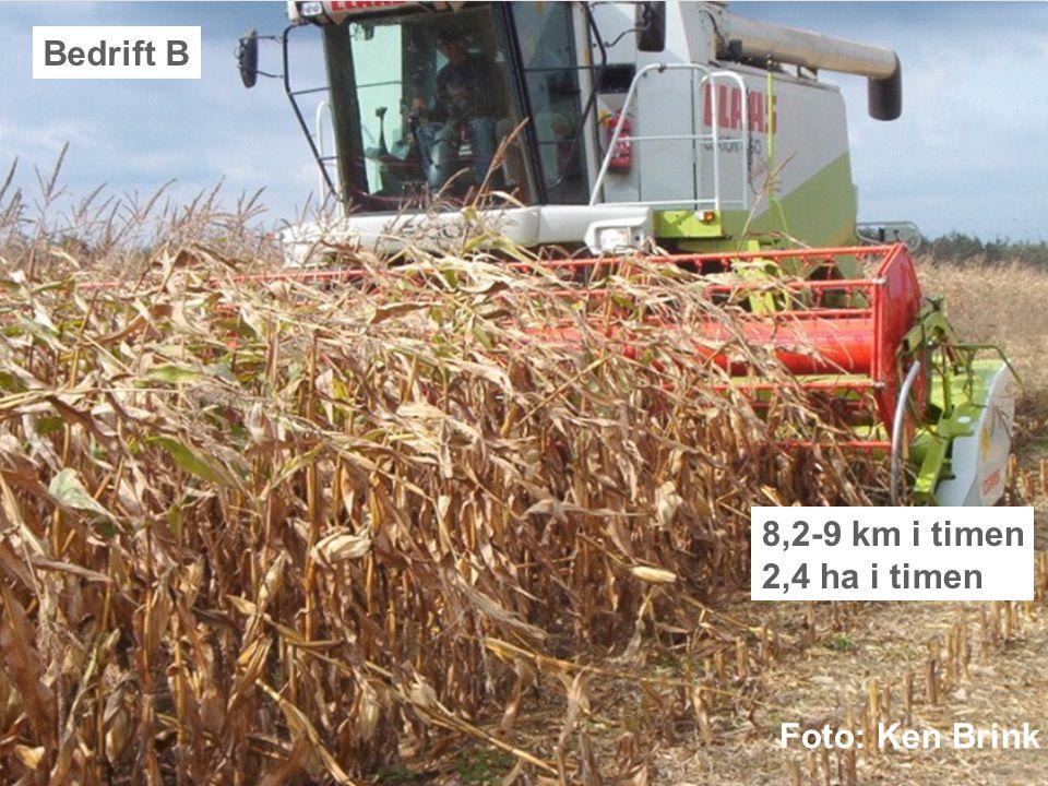 Dansk Landbrugsrådgivning Landscentret | Planteavl Bedrift B 8,2-9 km i timen 2,4 ha i timen Foto: Ken Brink