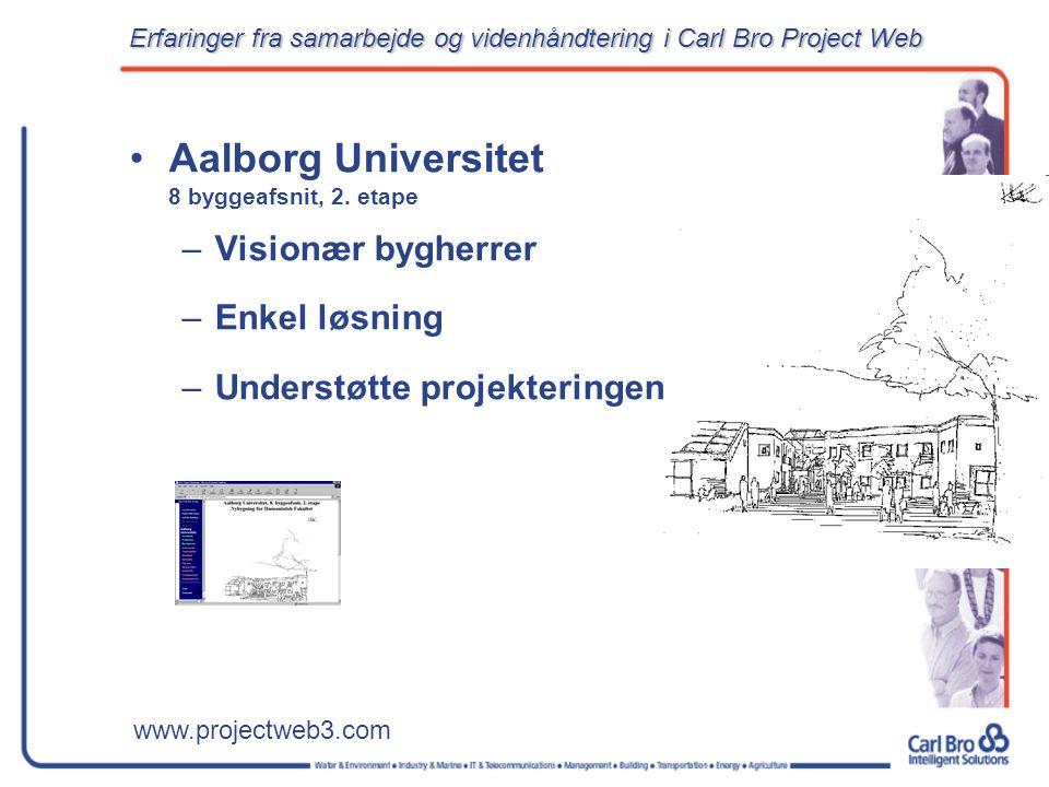 www.projectweb3.com Aalborg Universitet 8 byggeafsnit, 2.