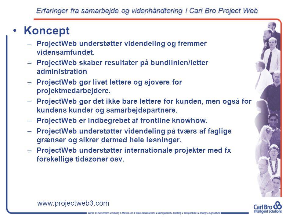 www.projectweb3.com Koncept –ProjectWeb understøtter videndeling og fremmer vidensamfundet.