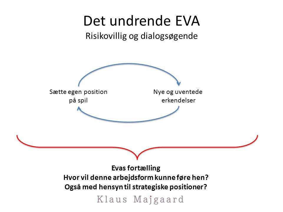 Det undrende EVA Risikovillig og dialogsøgende Evas fortælling Hvor vil denne arbejdsform kunne føre hen.