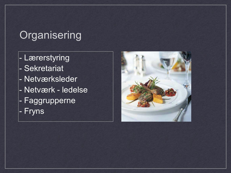 Organisering - Lærerstyring - Sekretariat - Netværksleder - Netværk - ledelse - Faggrupperne - Fryns