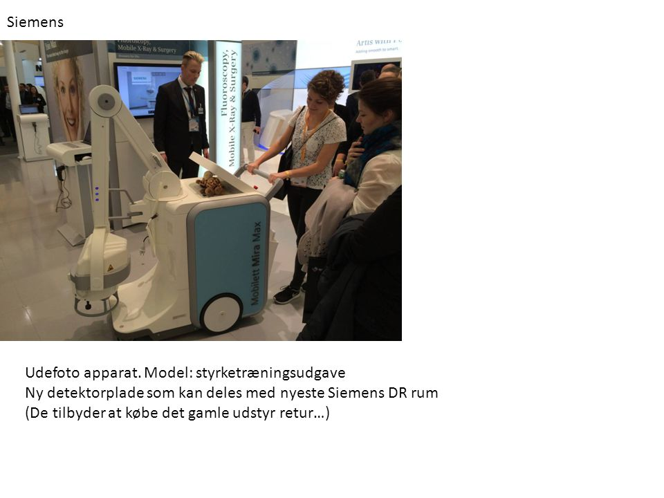 Siemens Udefoto apparat.