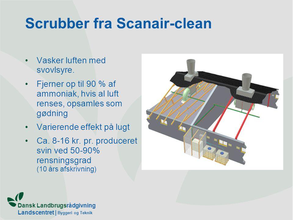 Dansk Landbrugsrådgivning Landscentret | Byggeri og Teknik Scrubber fra Scanair-clean Vasker luften med svovlsyre.