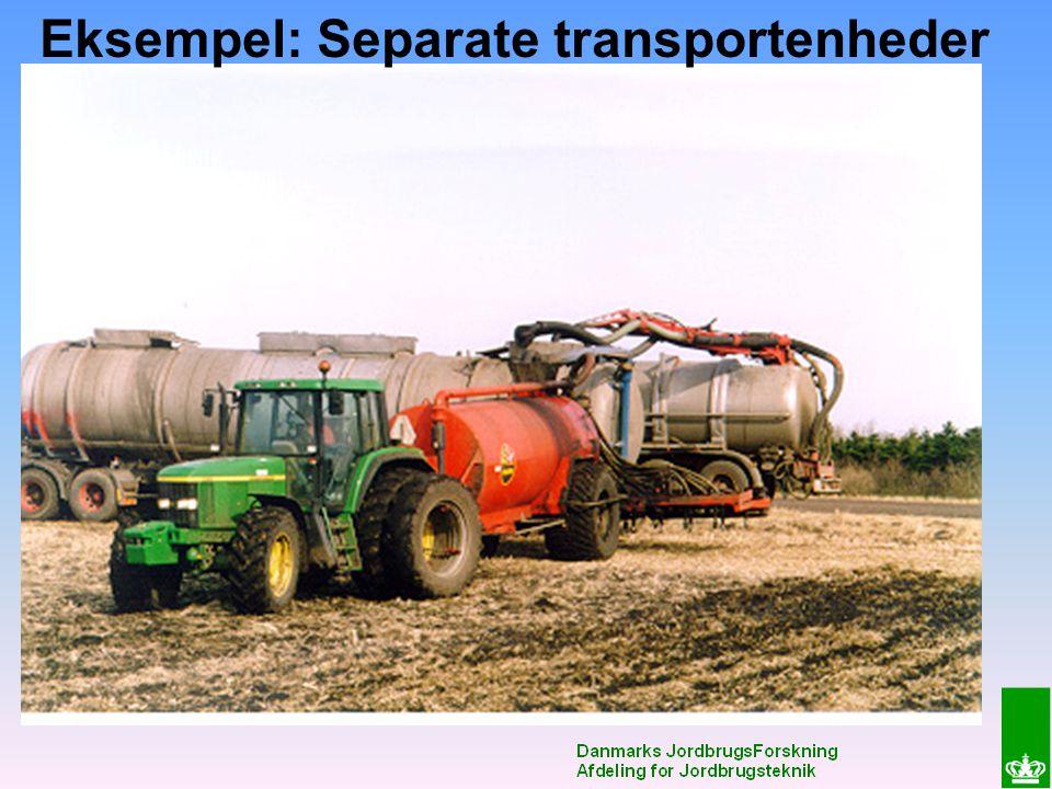 Eksempel: Separate transportenheder