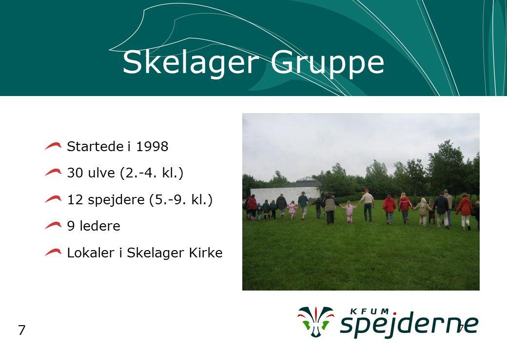 7 7 Skelager Gruppe Startede i 1998 30 ulve (2.-4.
