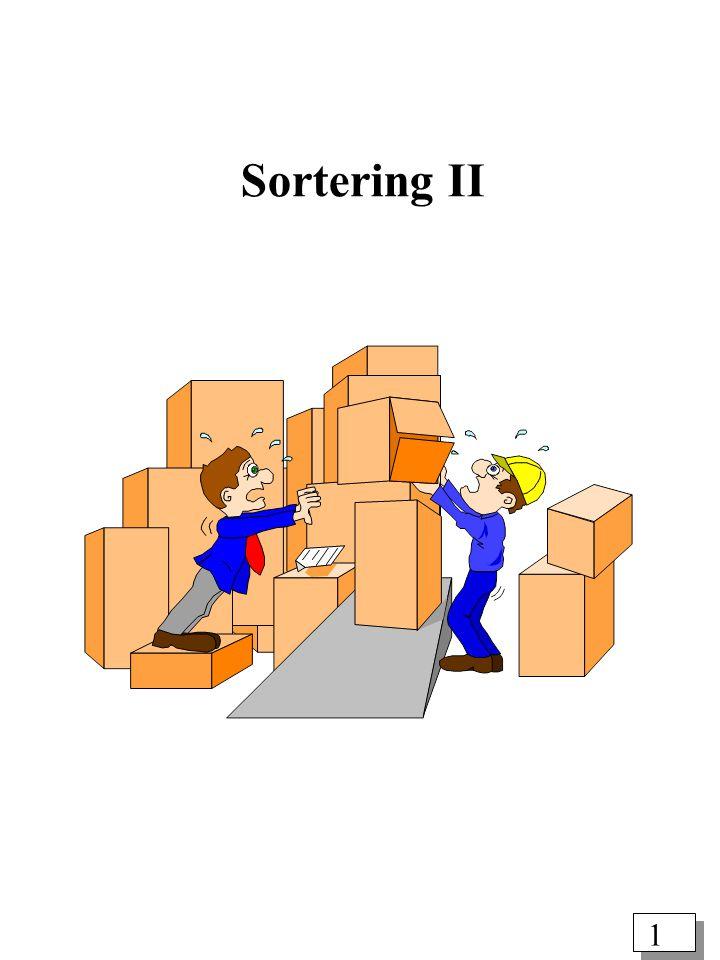 1 Sortering II