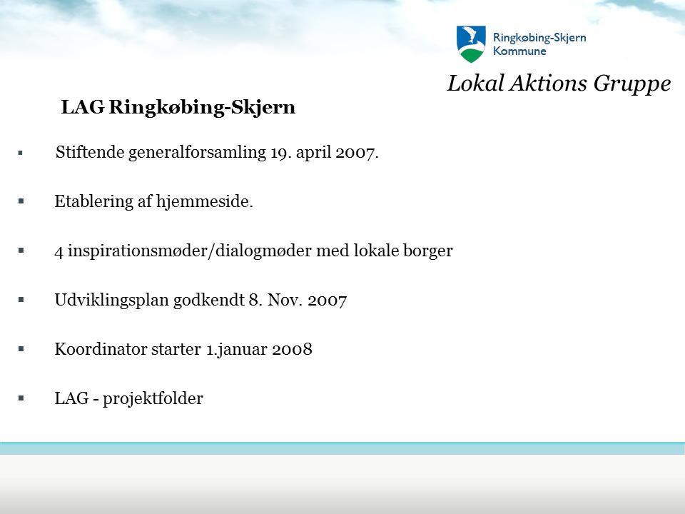 Lokal Aktions Gruppe LAG Ringkøbing-Skjern  Stiftende generalforsamling 19.