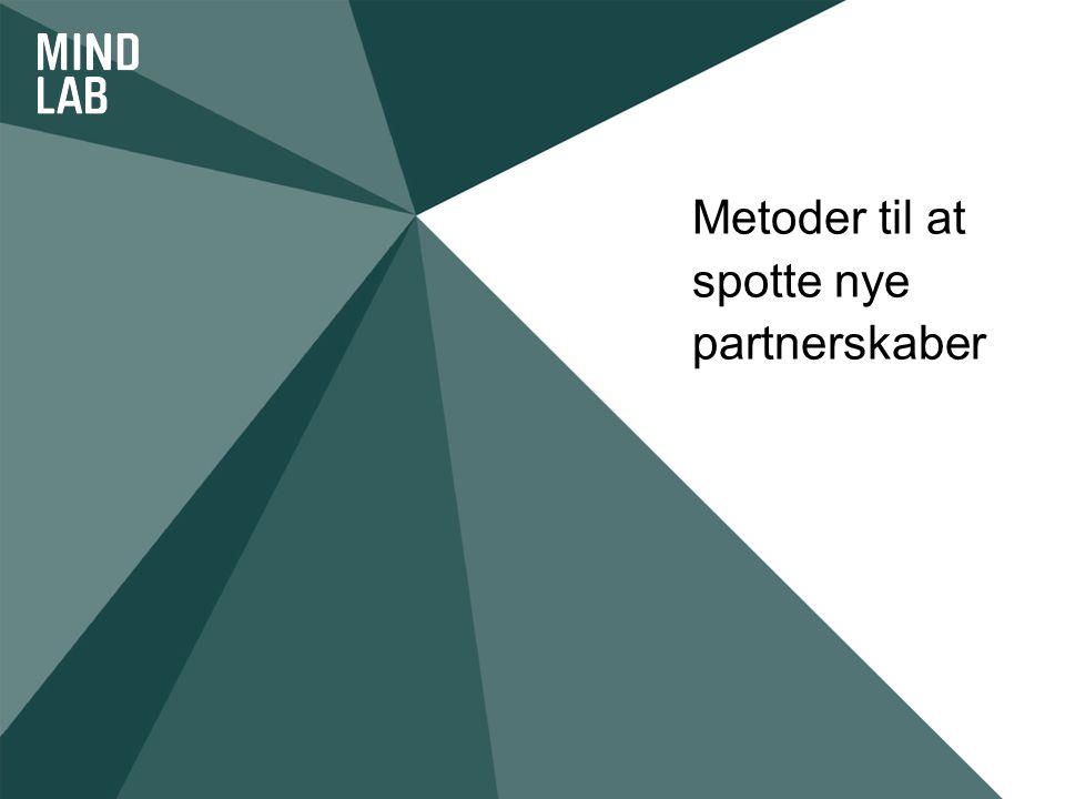 Metoder til at spotte nye partnerskaber