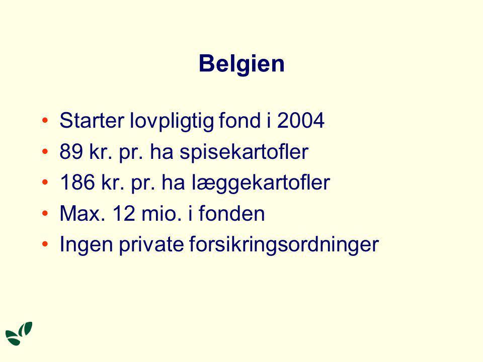 Belgien Starter lovpligtig fond i 2004 89 kr. pr.