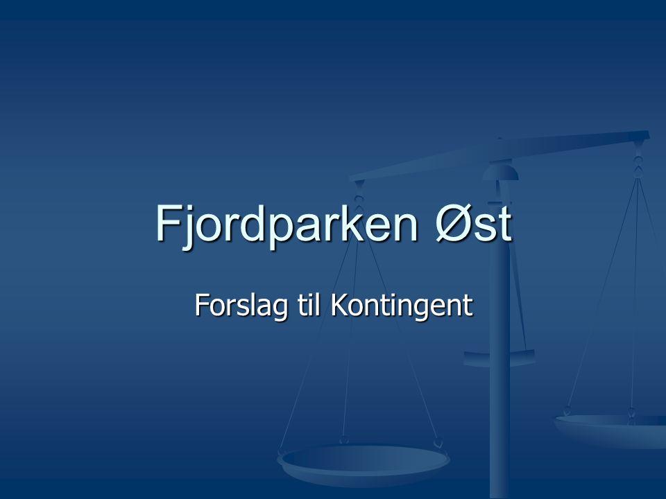 Fjordparken Øst Forslag til Kontingent