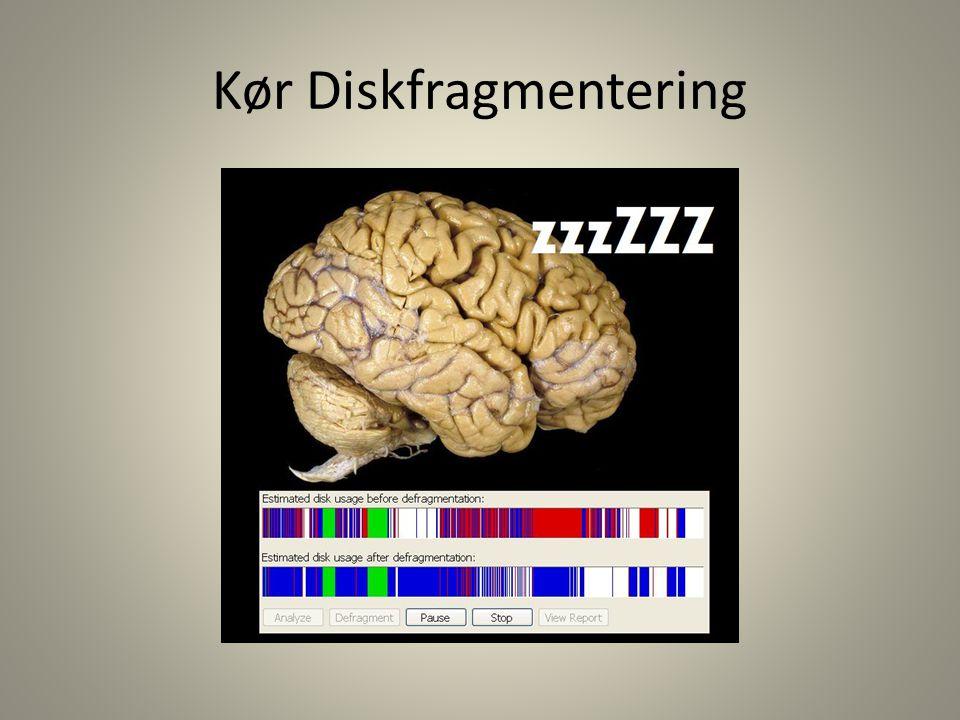 Kør Diskfragmentering