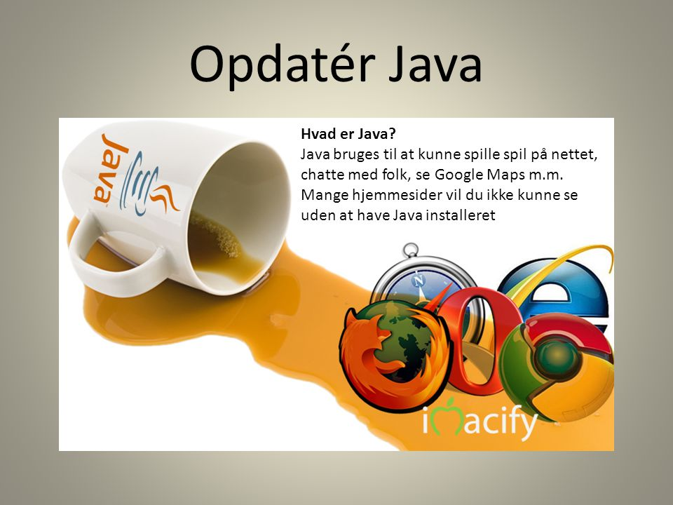 Opdatér Java Hvad er Java.