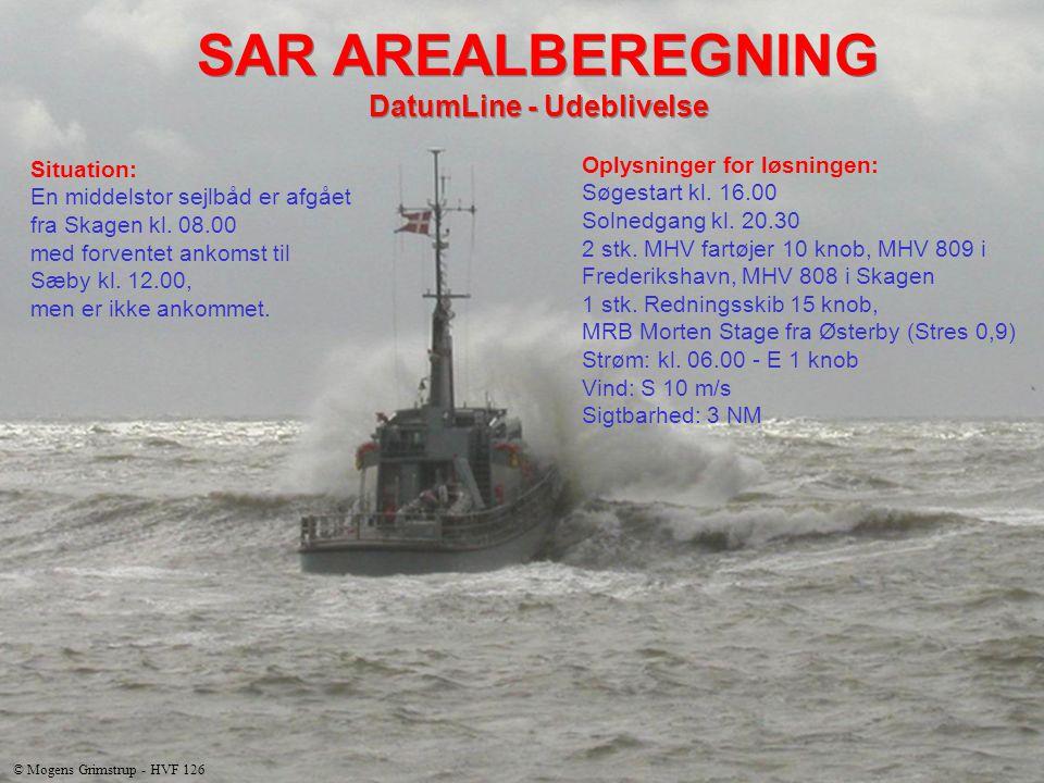 Situation: En middelstor sejlbåd er afgået fra Skagen kl.