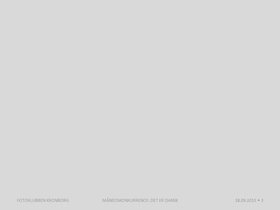 MÅNEDSKONKURRENCE: DET ER DANSK18.09.2013 3