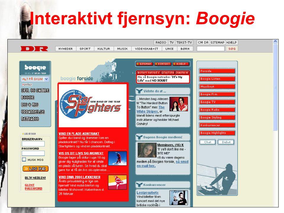 Interaktivt fjernsyn: Boogie