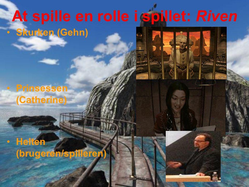 At spille en rolle i spillet: Riven Skurken (Gehn) Prinsessen (Catherine) Helten (brugeren/spilleren)