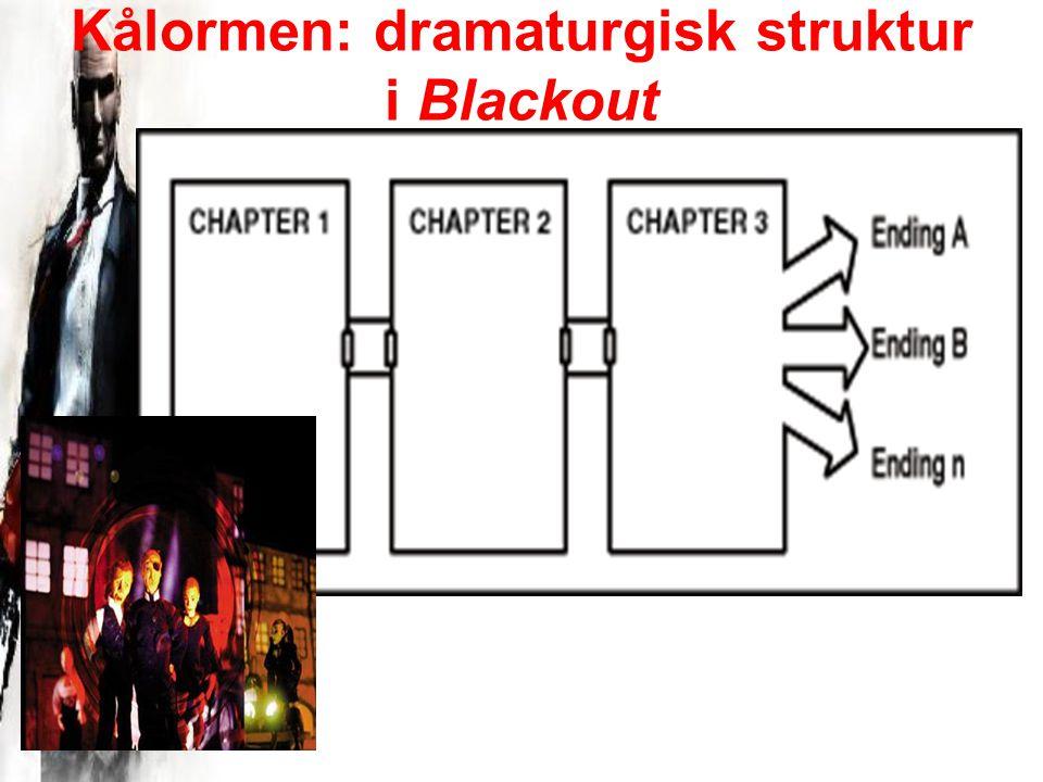 Kålormen: dramaturgisk struktur i Blackout